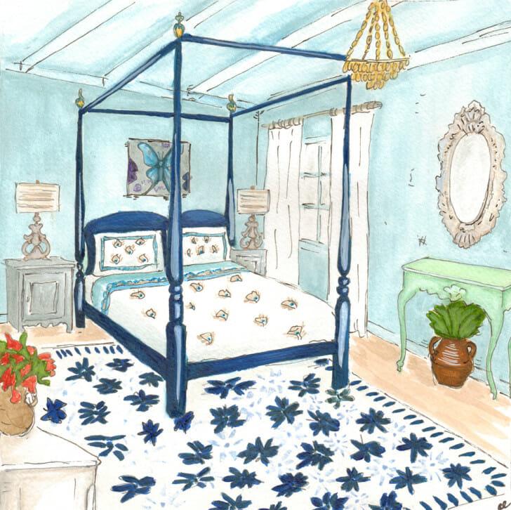 Mamma Mia Bedroom, print