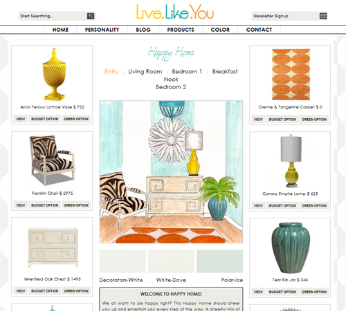 LiveLikeYou Happy Home personality - with watercolor by Erica Eriksdotter
