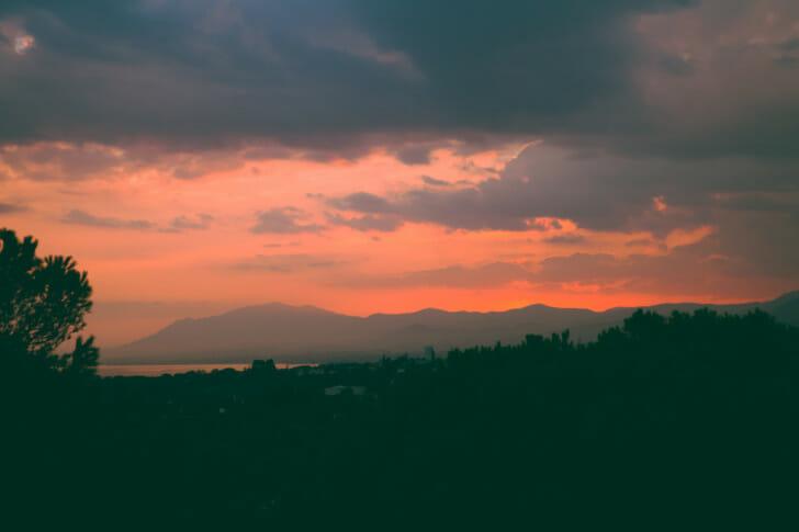 Sunset over Marbella