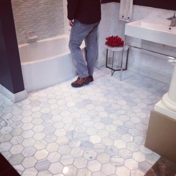 Tile Shop Marble hexigon