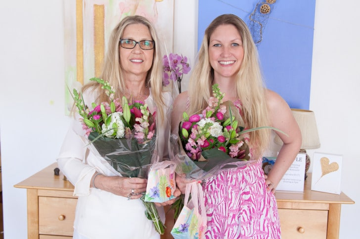 Marita Sunefors Larsson and Erica Eriksdotter, 2 Generations Art Show May 2014