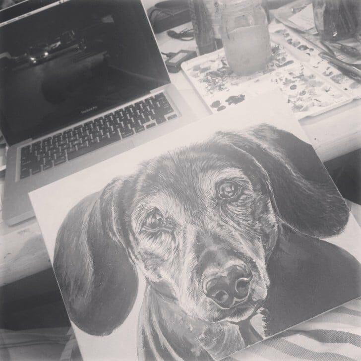 Original painting of Daisy