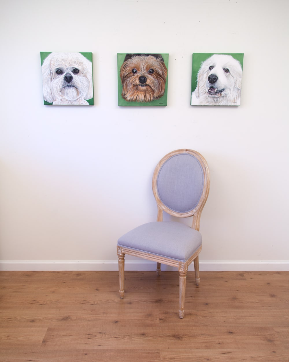 Boomer, Lexie and Sugar Bear - original acrylic paintings by Erica Eriksdotter