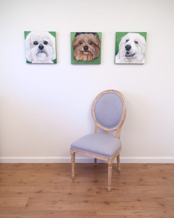 Boomer, Lexie and Sugar Bear - original paintings by Erica Eriksdotter