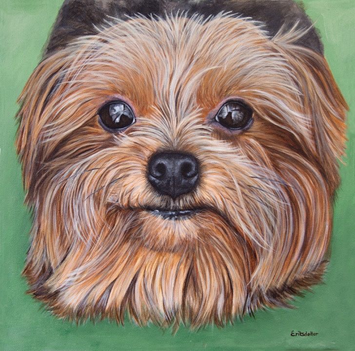 Lexie's Portrait, original acrylic by Erica Eriksdotter
