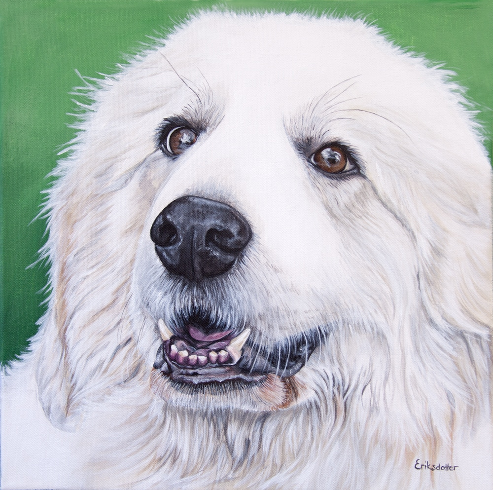 Sugar Bear's Portrait - original acrylic by Erica Eriksdotter