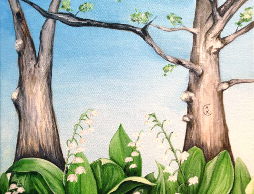 Original Painting: Grandmother's Lily of the Valley