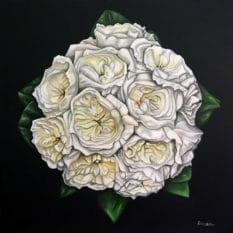 Jess Bridal Bouquet - original painting by Erica Eriksdotter
