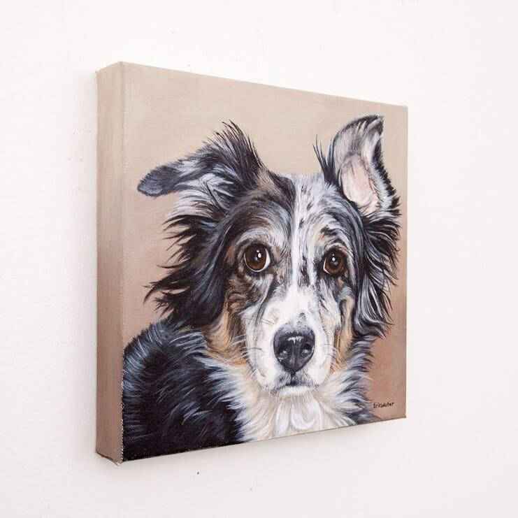 Original pet portrait of Dos by Erica Eriksdotter