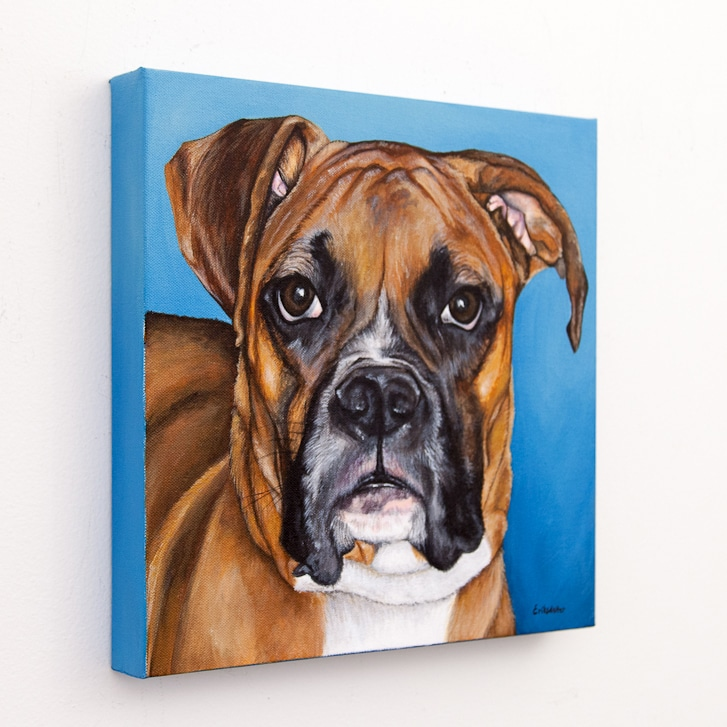 Original pet portrait of Berkley by Erica Eriksdotter