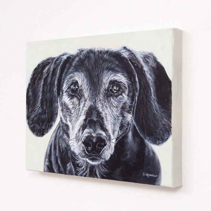 Daisy's Pet Portrait - original acrylic by Erica Eriksdotter
