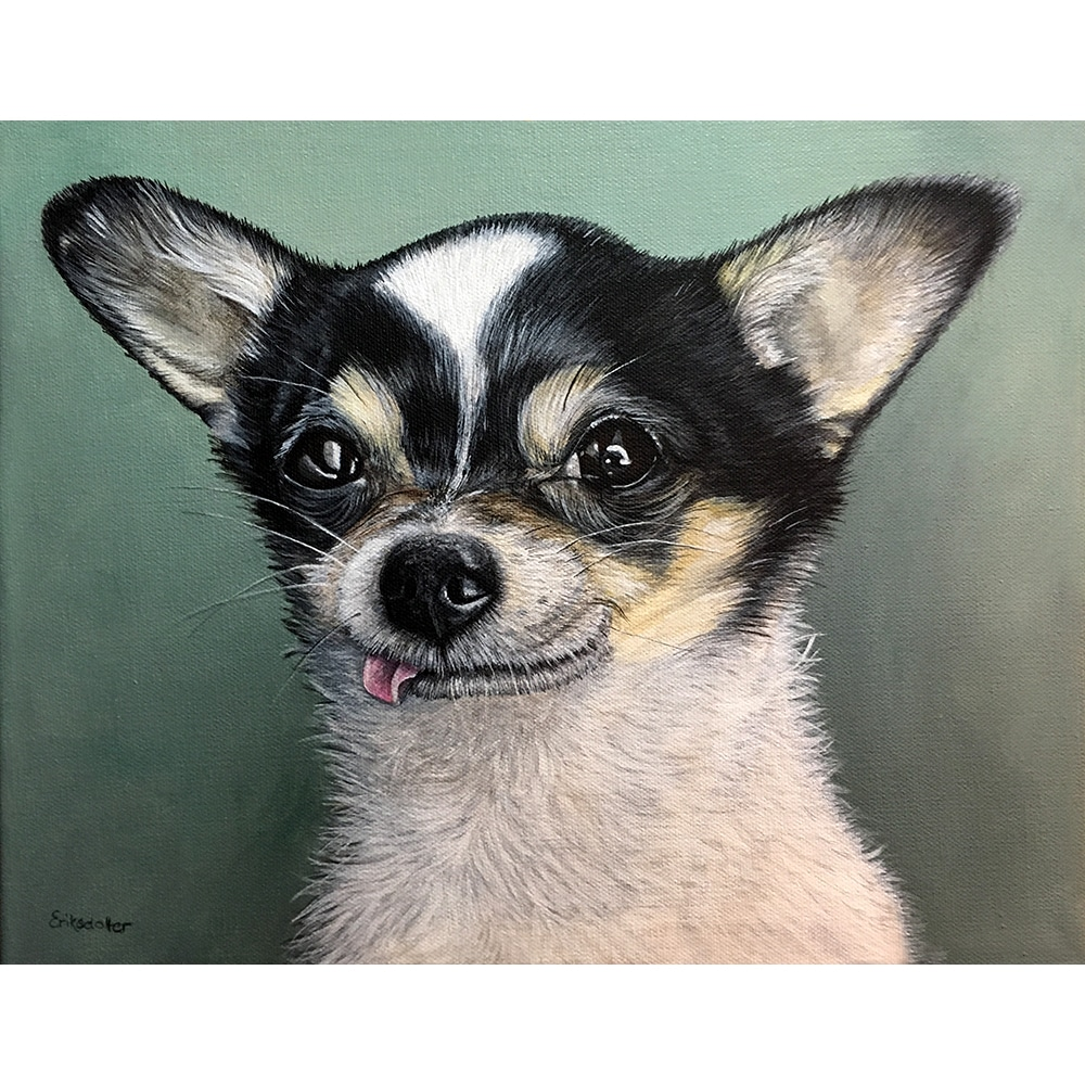 Billy's Pet Portrait - original painting by Erica Eriksdotter of Studio Eriksdotter