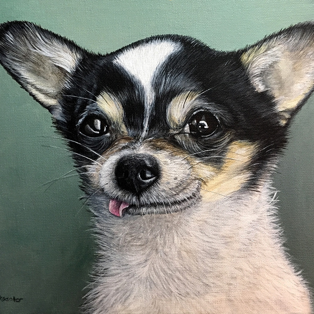 Billy's Pet Portrait - original painting by Erica Eriksdotter of Studio Eriksdotter