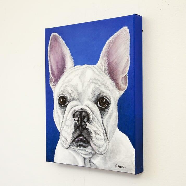 Custom french bulldog portrait by Erica Eriksdotter, right