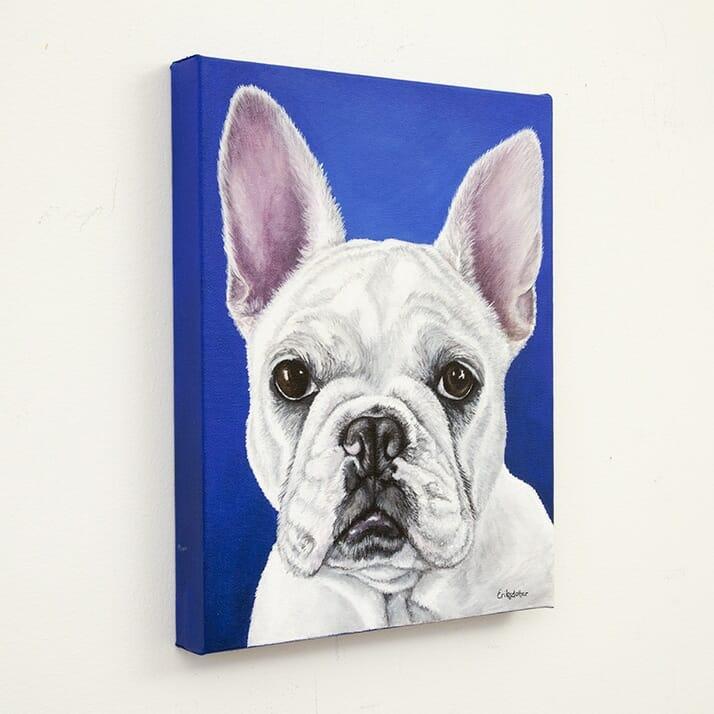 Custom french bulldog portrait by Erica Eriksdotter, left
