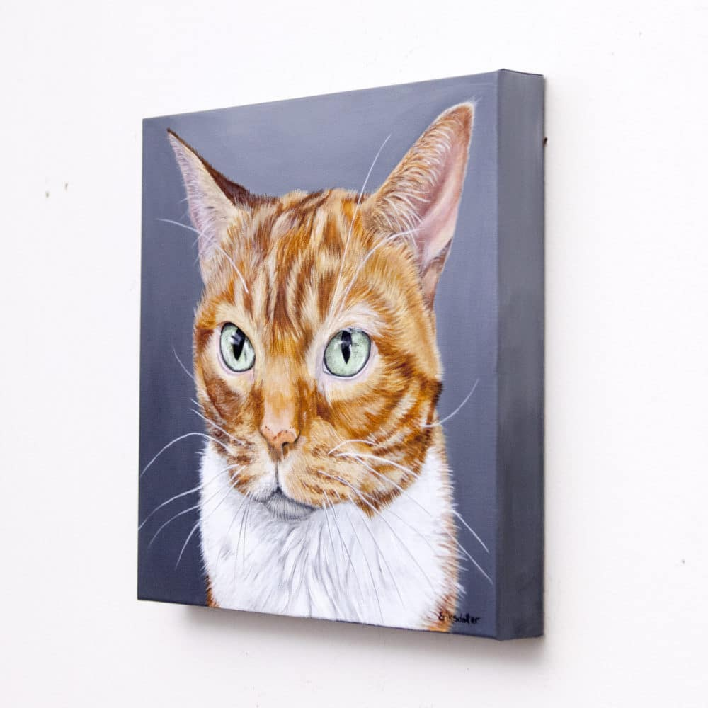 Ulysses' Pet Portrait - original painting by Erica Eriksdotter
