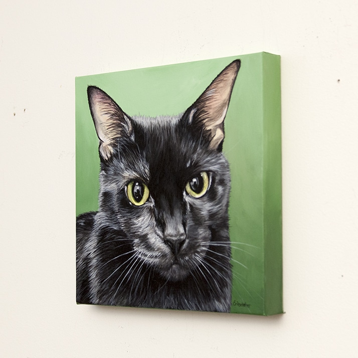 Minerva's Pet Portrait - original painting by Erica Eriksdotter of Studio Eriksdotter