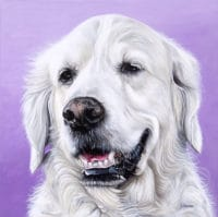 Rosie's Pet Portrait - original painting by Erica Eriksdotter of Studio Eriksdotter