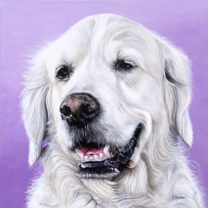 Rosie's Pet Portrait - original painting by Erica Eriksdotter of Studio Eriksdotter