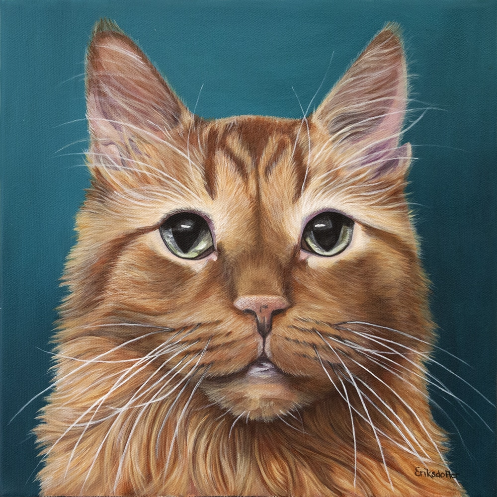 Archie's Pet Portrait - original painting by Erica Eriksdotter of Studio Eriksdotter