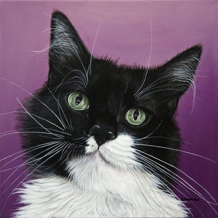 Pashy's Pet Portrait - original painting by Erica Eriksdotter of Studio Eriksdotter