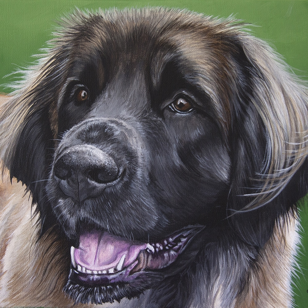 Elsa's Pet Portrait - original painting by Erica Eriksdotter of Studio Eriksdotter