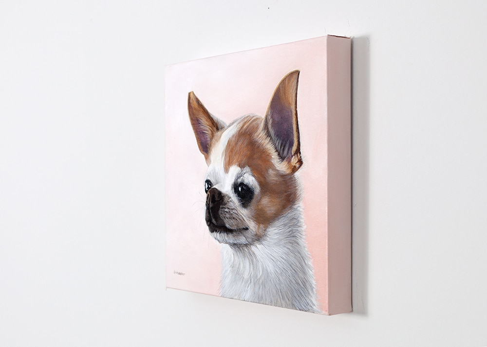 custom dog portrait of a chihuahua by Erica Eriksdotter