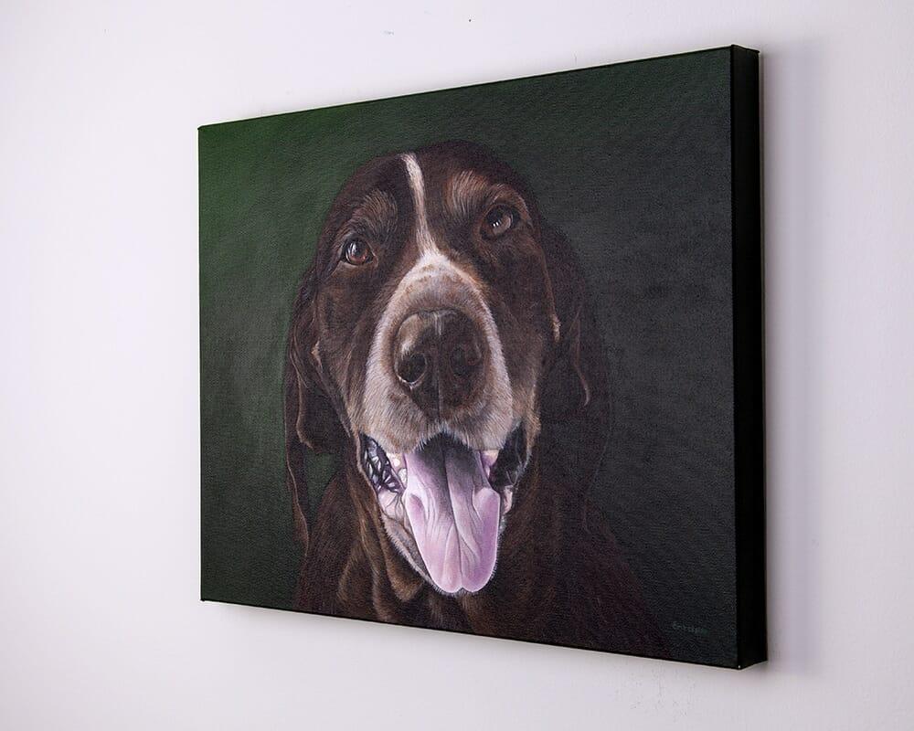 Custom dog portrait of a german shorthair pointer by artist Erica Eriksdotter