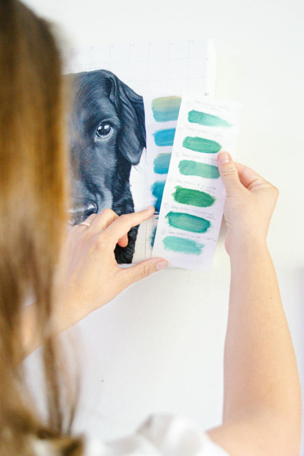 Pet portrait painter Erica Eriksdotter